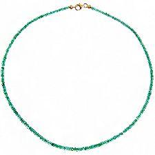 Sambia Smaragd 27,00ct ca. 47cm Collier Gold 585