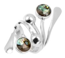 DOMINIQUE DINOUART  Ring floral poliert Silber 925