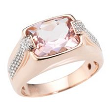 Morganit Ring AAA / 2,75ct Brillanten 0,14ct Roségold 585