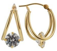 DIAMONIQUE ® Creolen = 2,00ct Brillantschliff Gold 585