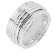 DOMINIQUE DINOUART  Bandring poliert Silber 925