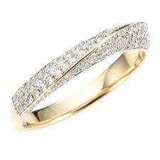 108 Brillanten Ring zus. ca. 0,58ct Weiß/P1 Gold 585