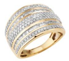 182 Diamanten Ring zus. ca. 1,00ct Weiß/Piqué1 Gold 585