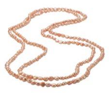 HONORA  Endloskette Süßwasserzucht- perlen 6-7mm Länge ca.177cm
