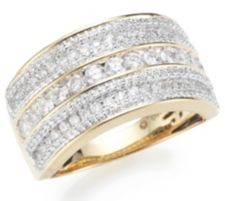 CANADIAN DIAMONDS  Ring 187 Brillanten zus. ca. 1,00ct Gold 750