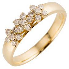 18 Brillanten Ring Weiß/lupenrein zus. ca. 0,40ct Gold 585