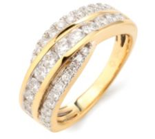 CANADIAN DIAMONDS  32 Brillanten zus. ca. 1,00ct Ring Gold 750