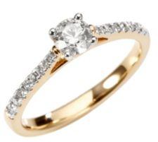 17 Diamanten Ring zus. ca. 0,50ct Weiß/P1 Gold 585
