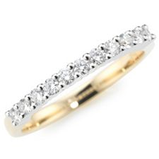 CANADIAN DIAMONDS Ring 11 Brillanten zus. ca. 0,35ct Gold 750