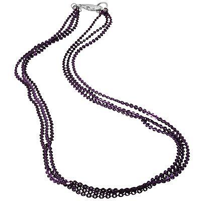 Sterling Silber 3rhg. Collier Länge ca.45cm Farbauswahl poliert Preisvergleich