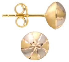 GOLDRAUSCH  Ohrstecker bicolor diamantiert Gold 585