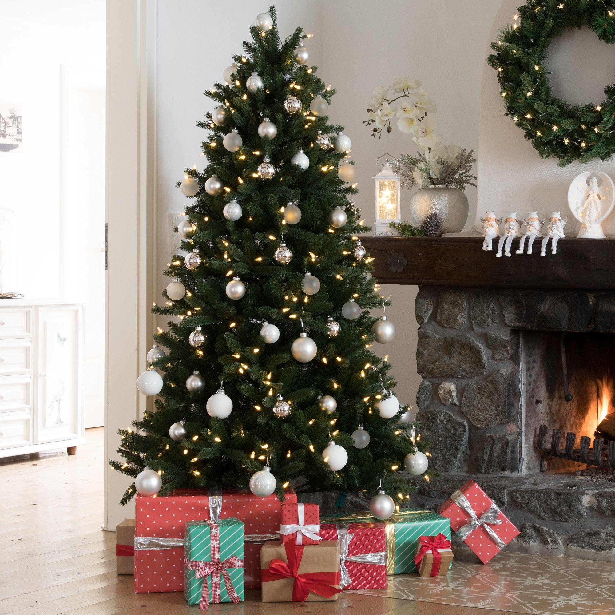 Weihnachtsbaum Künstlich Beleuchtet.Santa S Best Weihnachtsbaum Programmierbar Inkl Fernbedienung