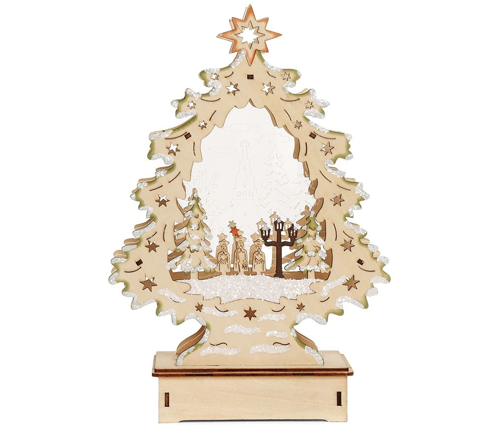 lumida xmas holzdekoration b ume acrylverzierung timer. Black Bedroom Furniture Sets. Home Design Ideas