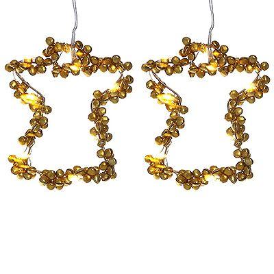 LUMIDA Xmas Engelanhänger aus Metallglöckchen Timerfunktion Höhe ca. 12cm, 2tlg. Preisvergleich