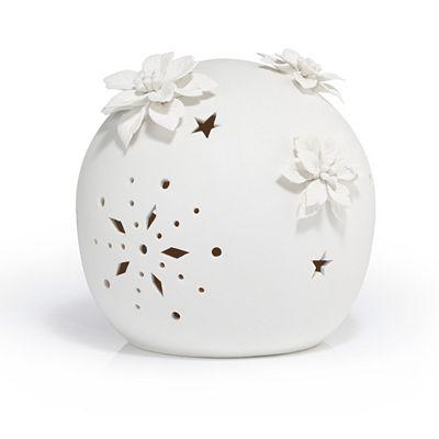 LUMIDA Ceramica Porzellankugel 3D-Weihnachtsblüte Timerfunktion Ø 20cm Preisvergleich