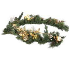 ABELLA  Xmas Girlande Weihnachtsstern inkl. Accessoires L. ca. 150cm