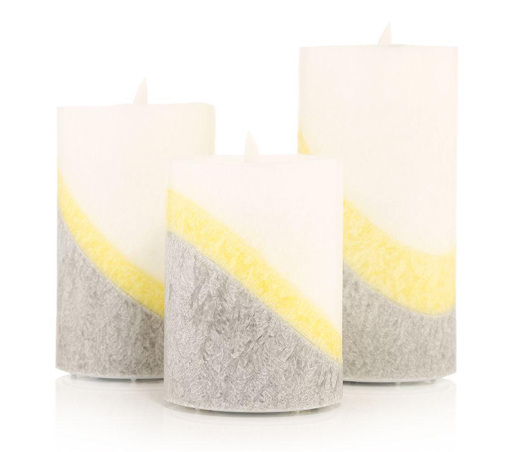 Luma Haus: ELAMBIA Flammenlose Kerzen Flamme Luma Farbverlauf Timer