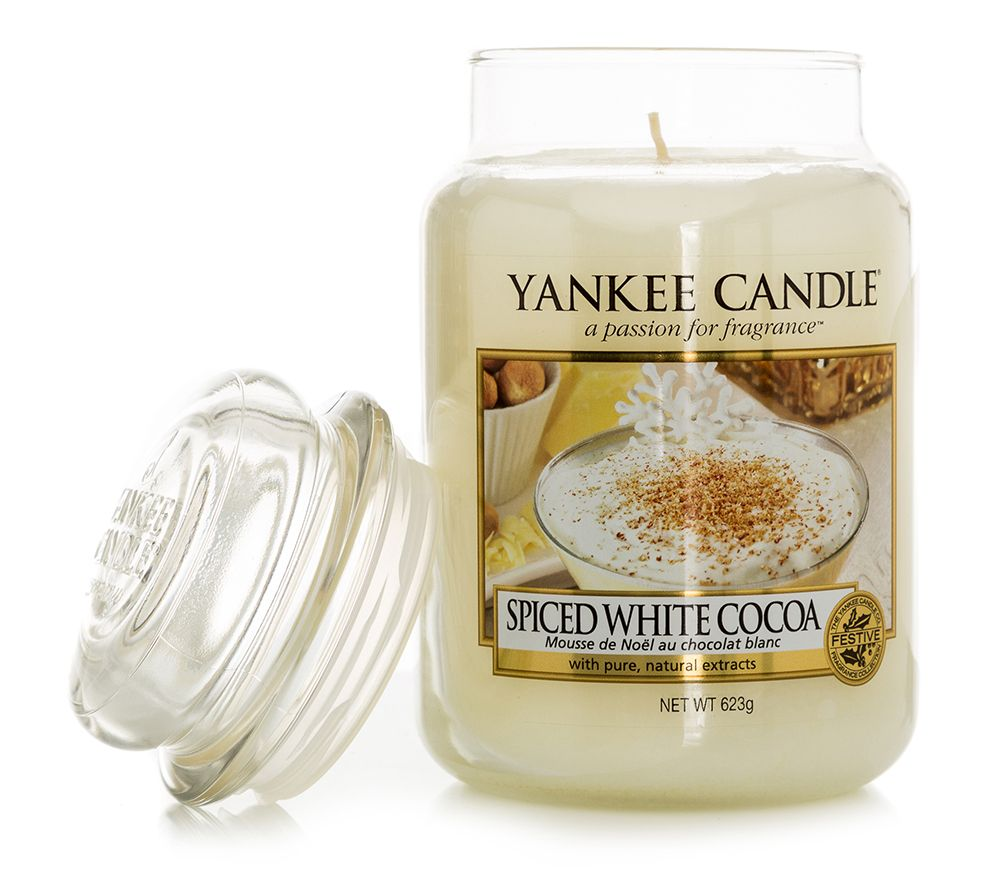Yankee Candle Spiced White Cocoa Duftkerze Grosses Glas 623 g