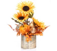 ABELLA  Flora kunstvolle Blumen Sonnenblumen- Arrangement H. ca. 43cm