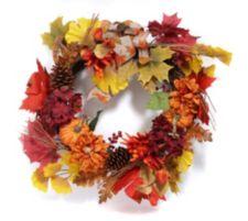 ABELLA  Flora kunstvolle Blumen Herbstkranz inkl. Aufhänger Ø ca. 50cm