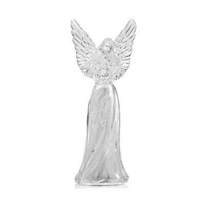 LUMIDA Xmas Acryl-Engelfigur Glitzerfolie Farbwechsel, Timer ca. 11,5x29x10cm Preisvergleich