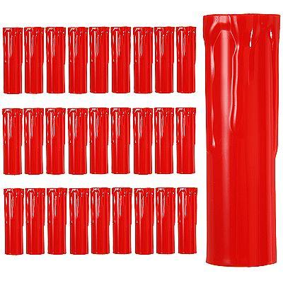 LUMIDA Xmas Kerzenhüllen für Christbaumkerzen farbig Tropfeneffekt Preisvergleich