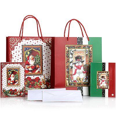 LUMIDA Xmas Geschenktüten & LED-Grußkarten diverse Designs 6-tlg. Preisvergleich