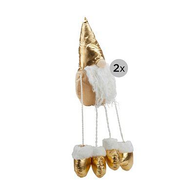 LUMIDA Xmas 2 hängende Weihnachtswichtel Metallic-Look beleuchtet, Timer Preisvergleich