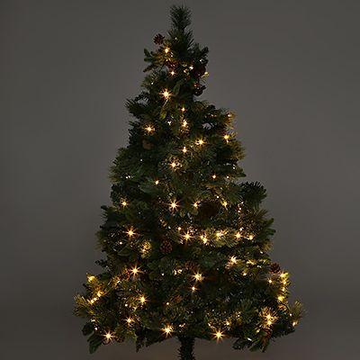 Künstlicher Weihnachtsbaum Mit Licht.Lumida Xmas Tannenbaum Inkl Tannenzapfen Led Beleuchtung