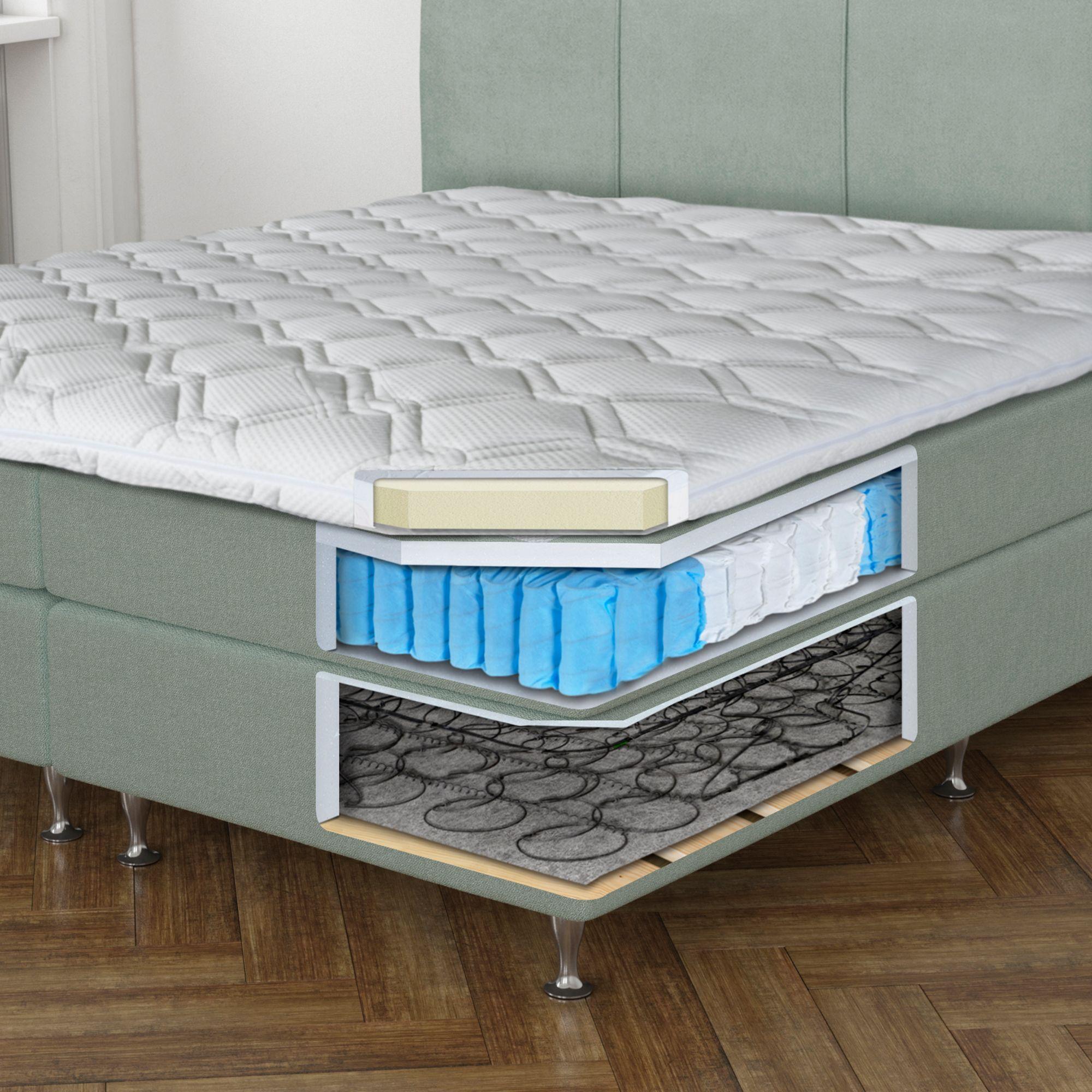 bodyflex boxspring bett valencia serie classic softschaum topper metallf e page 1. Black Bedroom Furniture Sets. Home Design Ideas