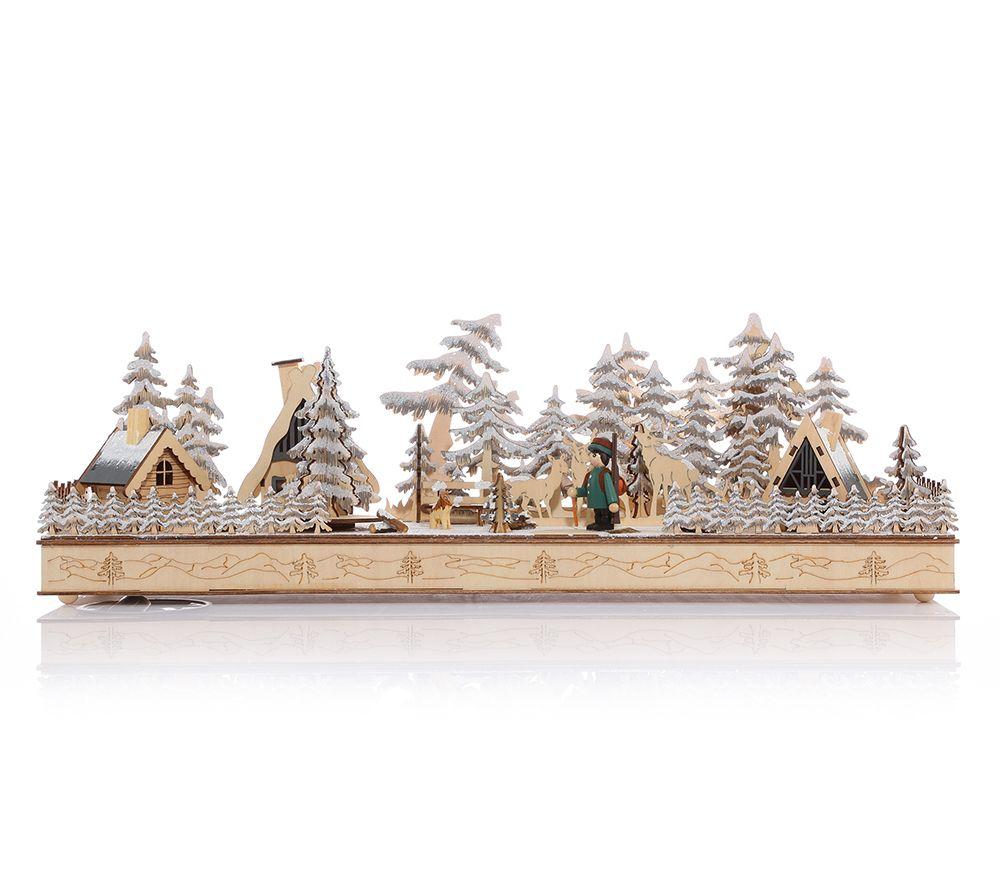 LUMIDA Xmas XL-Weihnachtsszene beleuchtet Farbwechsel Timer, L. ca ...