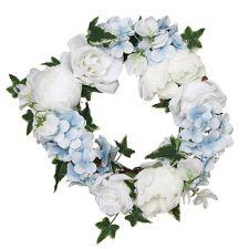 ABELLA  Flora kunstvolle Blumen prachtvoller Blumenkranz Hortensie