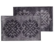 CASA FONDO  Mikrofaser Teppich-Set Ikat-Design ca. 50x80cm, 2tlg.