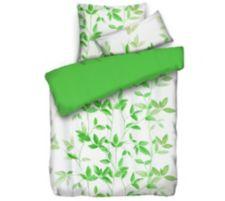 APRICASA  MF glatt gewebt Wendebettwäsche Bambusblätter Einzelbett, 3tlg.
