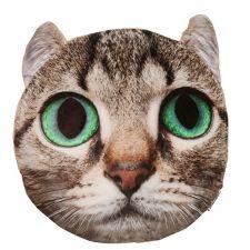 MONT CHALET  MF Chinchilla Fellimitat Tierkopf-Kissen Digitaldruck