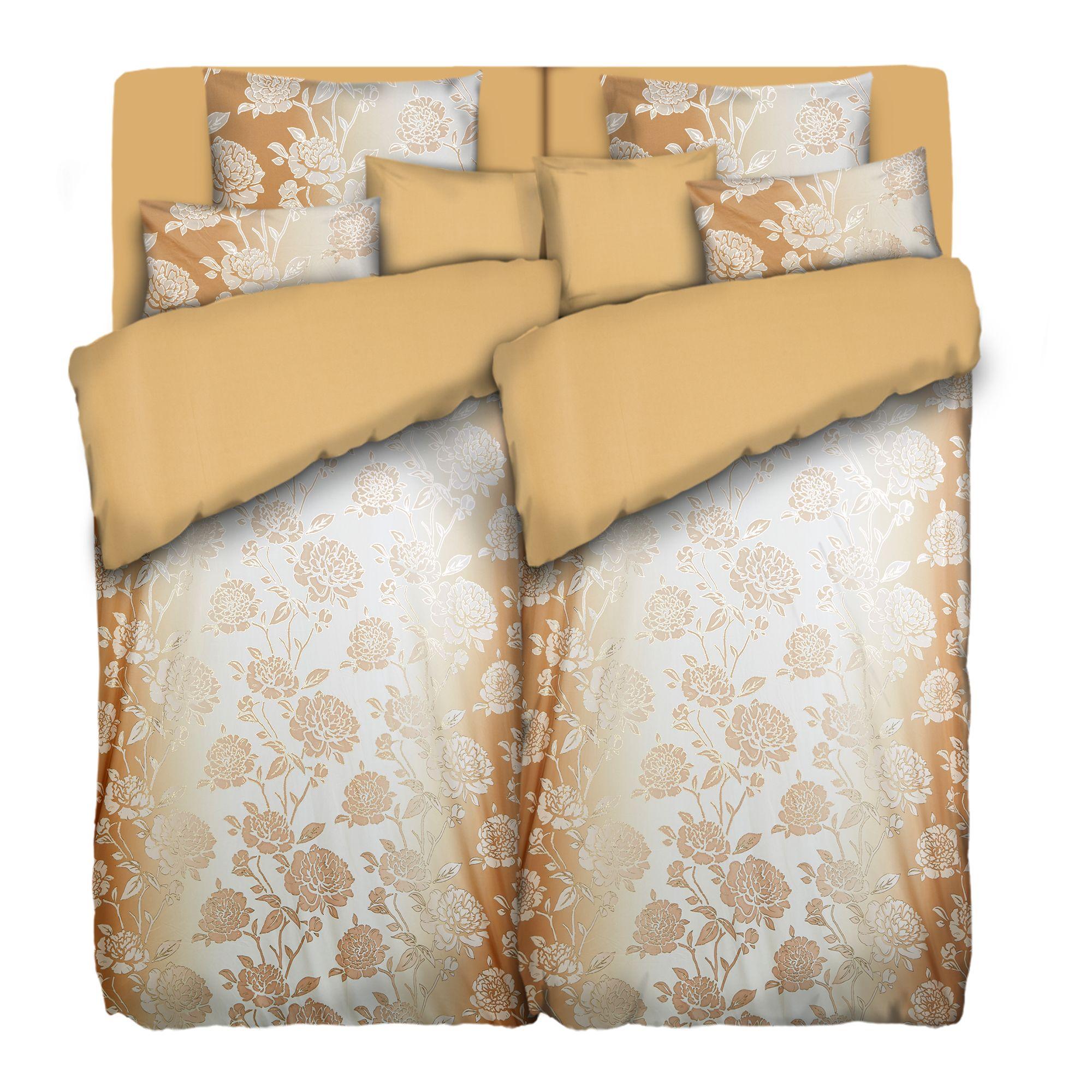 Betten Mode Bettwäsche Braune Blüten Neu Ovp Bettwäschegarnituren