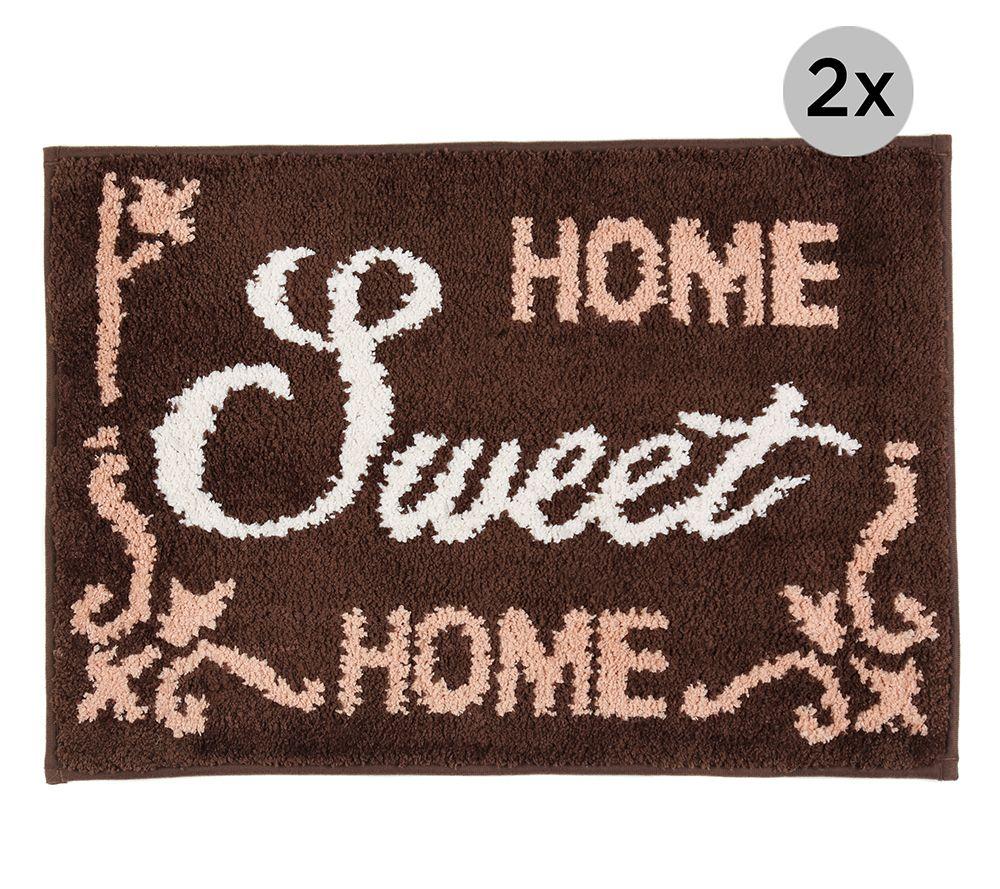 casa fondo mikrofaser 2 fu matten home sweet home ca 45x65cm page 1. Black Bedroom Furniture Sets. Home Design Ideas