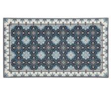 CASA FONDO  Chenille-Teppich Digitaldruck Fliesen-Optik besonders flach