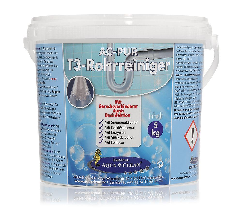 AQUA CLEAN PUR Reiniger für Rohre & Abflüsse mit Desinfektion 1x 5kg — QVC.de