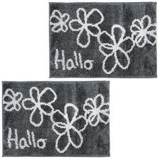 CASA FONDO  Mikrofaser 2 Fußmatten Hallo & Blüten ca. 45x65cm