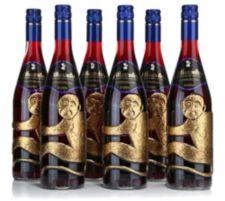 AFFENTALER WEIN  6 Flaschen Dunkelfelder Rotwein in Affenflaschen Jg. 2015