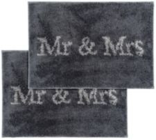 CASA FONDO  Mikrofaser Fußmatten-Set Mr. & Mrs. ca. 45x65cm