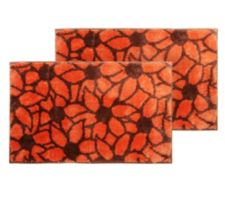 CASA FONDO  Mikrofaser 2 Fußmatten allover Blüten ca. 50x80cm