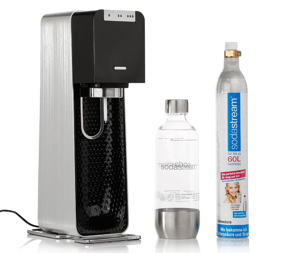 Sodastream Elektr Wassersprudler 3 Sprudelstarken Aluminiumgehause 5j Herstellergarantie Qvc De
