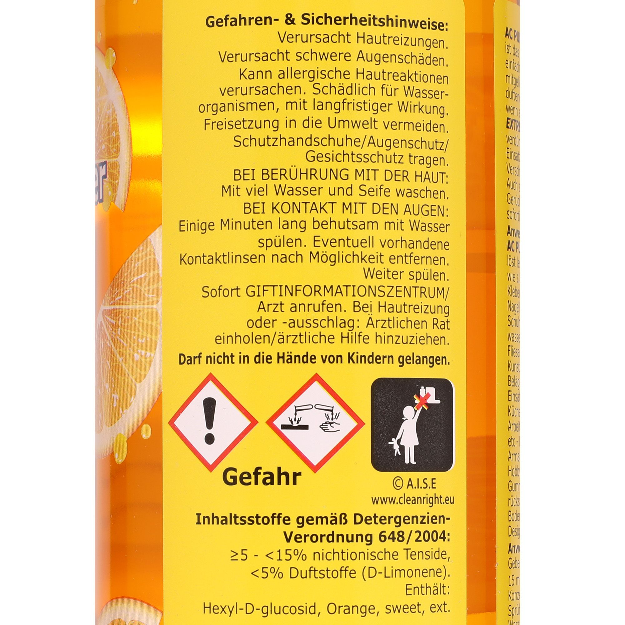 AQUA CLEAN PUR Extreme Orangenreiniger Konzentrat 2x 750ml ...