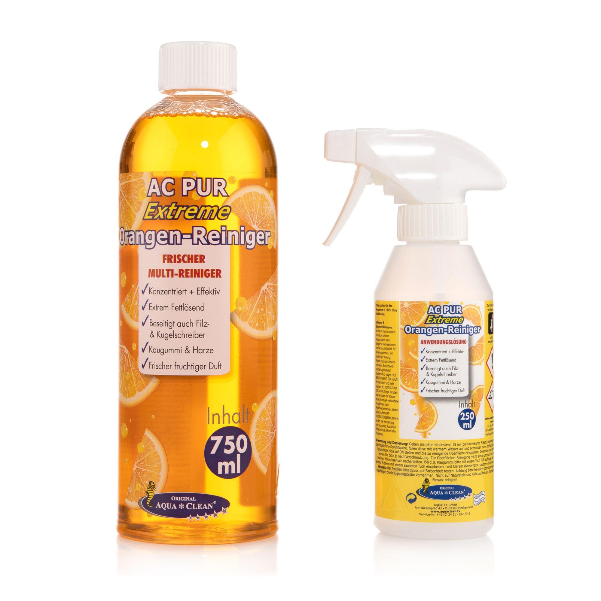 AQUA CLEAN PUR Extreme Orangenreiniger Konzentrat 1x 750ml ...