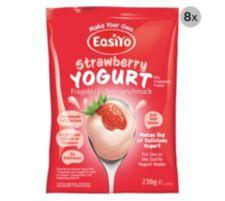 EASIYO  Joghurtpulver 8 Beutel für 8kg Joghurt Erdbeere