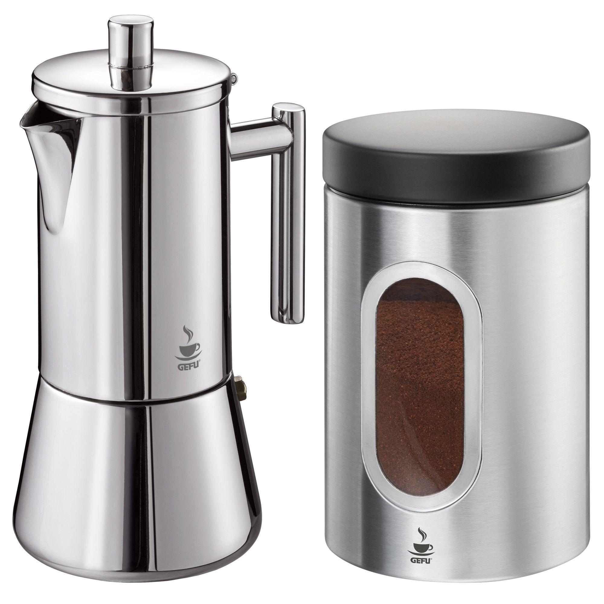 Kaffee-Perkolator Voche/® Milan Style Edelstahl-Espressokanne f/ür 6/Tassen