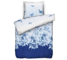 APRICASA  MF glatt gewebt Bettwäsche Blumenwiese Einzelbett, 2tlg.