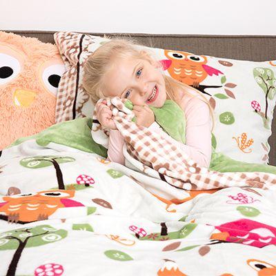 Mont Chalet Mf Chinchilla Optik Kinderbettwäsche Eulen Einzelbett